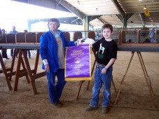 Christian Webster- Grand Champion Rabbits